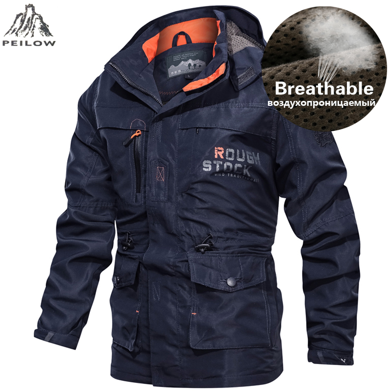 Brand Military Jacket Men 2019 Spring Autumn Breathable Tactical Bomber Jackets Big Size 5XL 6XL Cargo Windbreaker Clothing Coat-in Jackets from Men's Clothing