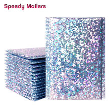 Speedy Mailers 10PCS Laser Silver Mailing Envelope Bags Waterproof Courier Bags Bubble Mailers Padded bubble Envelopes Bag
