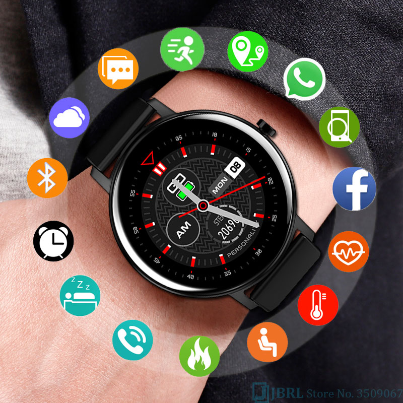 Round Touch Smart Watch Men Women Smartwatch Electronics Smart Clock For Android IOS Fitness Tracker New Bluetooth Smart-watch