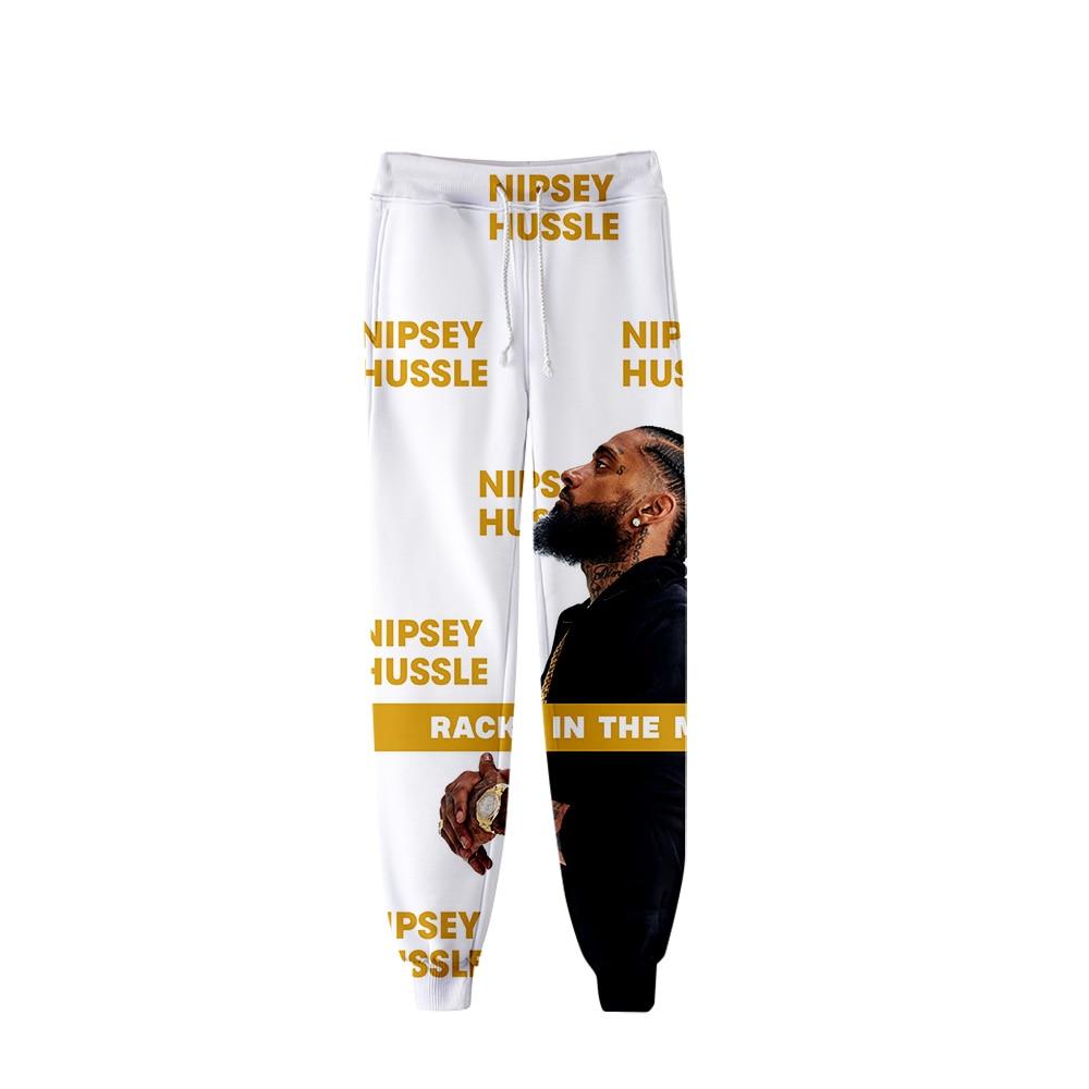Nipsey Hussle Men's Pants Harajuku Streetwear 3d Sweatpants Hip Hop Fahion Tracksuit Pantalon Sport Confortable Streetwear Pants