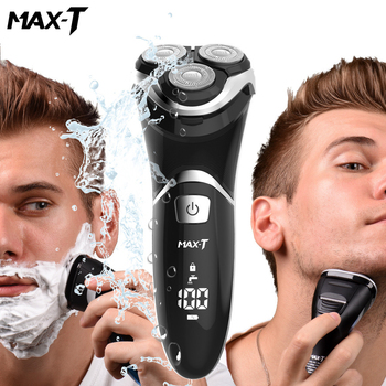 MAX-TRMS8101 Electric Shaver Face Care Washable USB Cable Rechargeable Triple Blade 3D Razors Electric Shaving Beard Machine man philips s5082 61 rechargeable electric shaver 3d triple floating blade heads shaving razors face care beard shaving machine