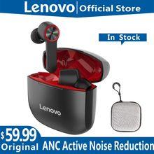 Lenovo-auriculares inalámbricos HT78 ANC con reducción activa del ruido, cascos TWS con Bluetooth para videojuegos, Control táctil, resistentes al agua, cancelación de ruido