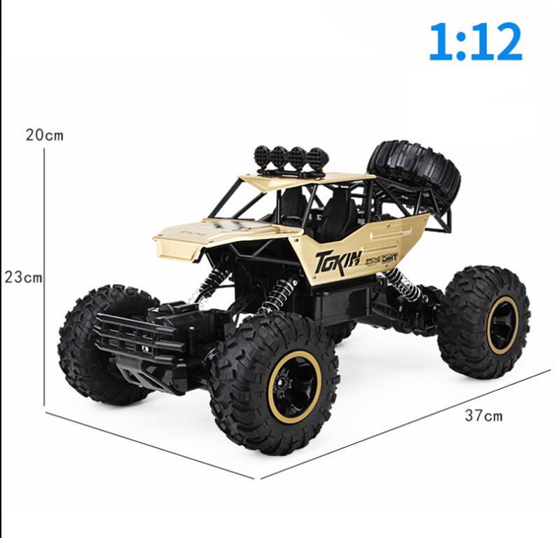 37 centimetri 1:12 RC Auto 4WD arrampicata Auto 4x4 Motori A Doppia Drive Bigfoot Auto Modello di Controllo Remoto di Sconto Road Del Veicolo giocattoli Per I Ragazzi I Bambini - 6