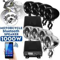 1000W Audio ATV UTV musica MP3 altoparlanti amplificatore a 4 canali Bluetooth AUX FM Radio SD Card chiavetta USB per moto bici barca
