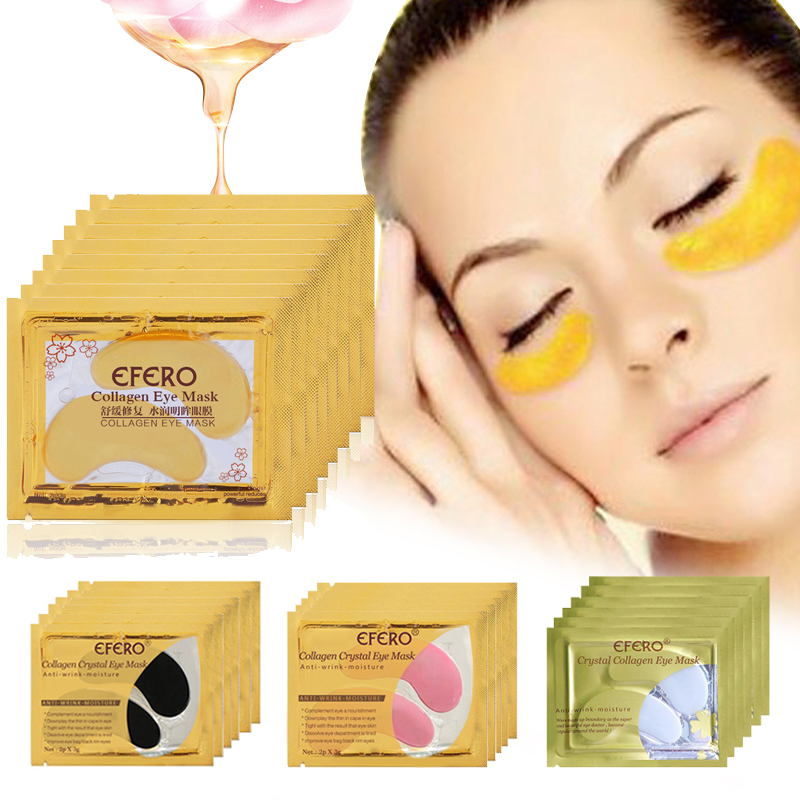 Eye-Mask Eyes-Pads Circles-Remover Skin-Care Crystal-Eye-Patches Moisturizing Collagen Gold