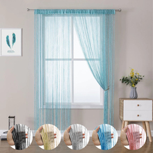 String Door Curtain Plain Tassel Window Panel Retro Room Door Divider String Anti-mosquito Fly Insect Bug Screen Fringe Drapes