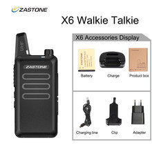 Zastone X6 UHF Walkie Talkie Radio 400-470MHZ cb Portable Radio Handheld Comunicador Mini Walkie Two Way Radio Ham