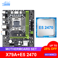 JINGSHA X79A 마더 보드 세트 Xeon LGA 1356 E5 2470 CPU 지원 DDR3 ECC REG 메모리