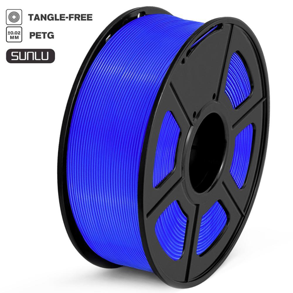 High Strength PETG Filament 1kg 1 75mm Tolerance 0 02mm 100 No Bubble Translucent Blue FDM