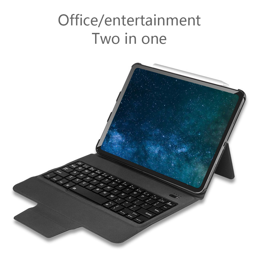 "Case For iPad Pro 11"" Protective Cover Wireless Bluetooth keyboard Case Leather Flip Cases For iPad Pro tablet stand cover case"