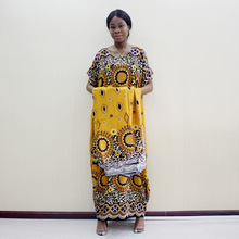 African Dress Scarf Traditional Bohemian Autumn Fashion Print with Loose