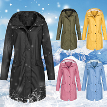 Winter Jacket Women Windcoat Zipper Jacket Hooded Coat Windproof Long Autumn Warm Outwear Hiking Camping Coat oeak women s autumn and winter hooded jacket long sleeved thick coat warm side zipper jacket coat solid color long coat 2019