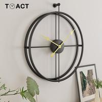 Ferro Relógio de Parede de Decoração Para Casa Escritório Relógio Grandes Relógios De Parede Design Moderno Montado Mudo Europeu decorativo Pendurado Relógios