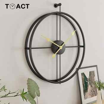 Horloge murale suspendue en forme de Lron | Horloge murale, décoration de maison, horloge murale de grande taille pour bureau, montage muette, Design moderne européen