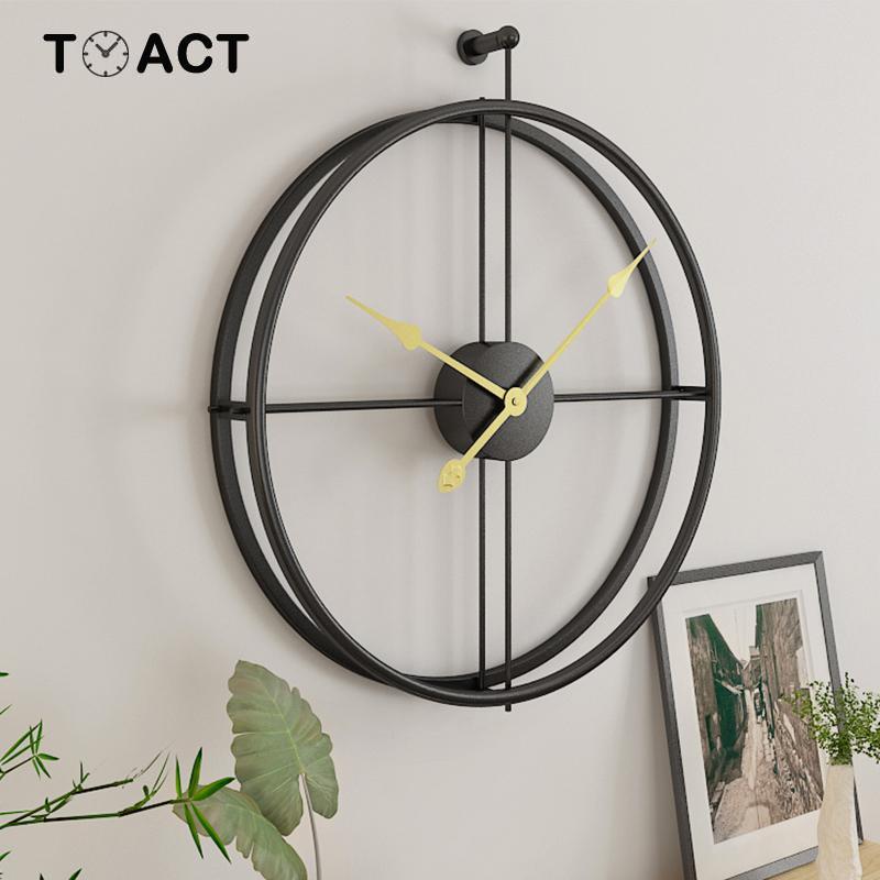 Image 2 - Wrought Lron Wall Clock Home Decoration Office Large Wall Clocks  Mounted Mute Watch European Modern Design Hanging WatchesWall Clocks
