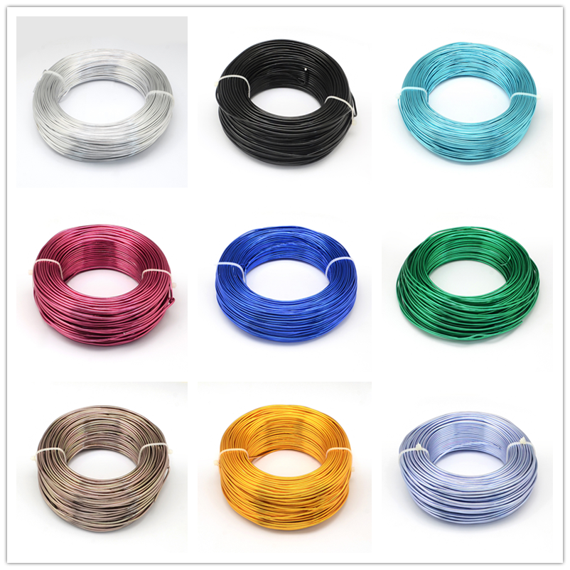 500g Aluminum Wire 0.8mm 1mm 1.5mm 2mm 2.5mm Jewelry Making Beading Floral Colored Aluminum Wire F65