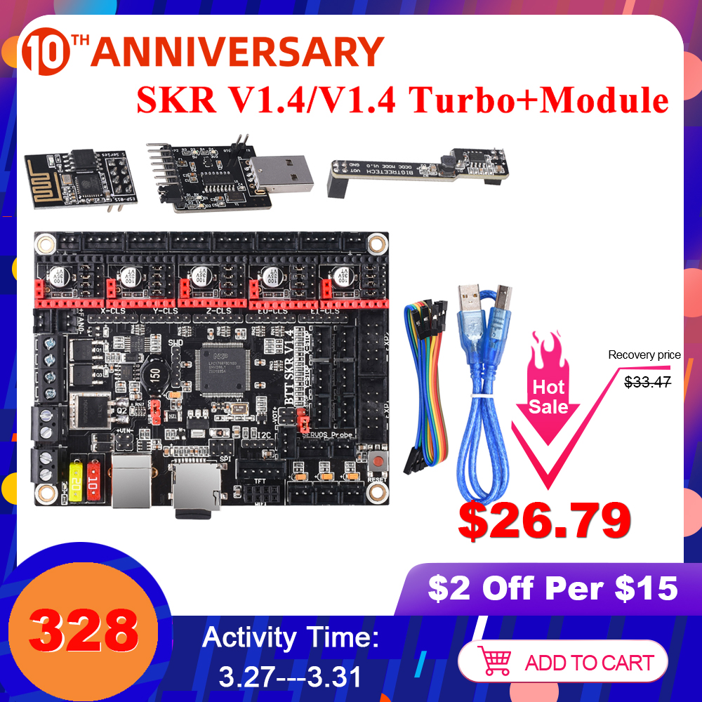 BIGTREETECH SKR V1.4 Turbo/SKR V1.4 Control Board 32 Bit Wifi Writer DCDC Mode SKR V1.3 TMC2208 TM2209 TMC2130 3D Printer Parts