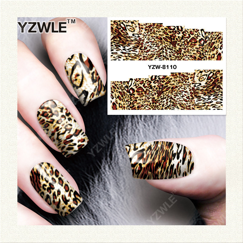 Yzw South Korea Star Gradient Shimmering Powder Solid Color Nail Sticker Flower Nail Stickers Nail Sticker YZW8110