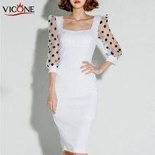 Женское офисное платье vicone белое элегантное облегающее Клубное