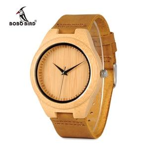Image 1 - BOBO BIRD นาฬิกาไม้ไผ่สำหรับชายนาฬิกาข้อมือควอตซ์ชาย часы мужские montre Homme Mens นาฬิกานาฬิกา Dropshipping