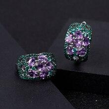 GEM'S BALLET 2.08Ct Natural Amethyst Gemstone Earrings 925 S