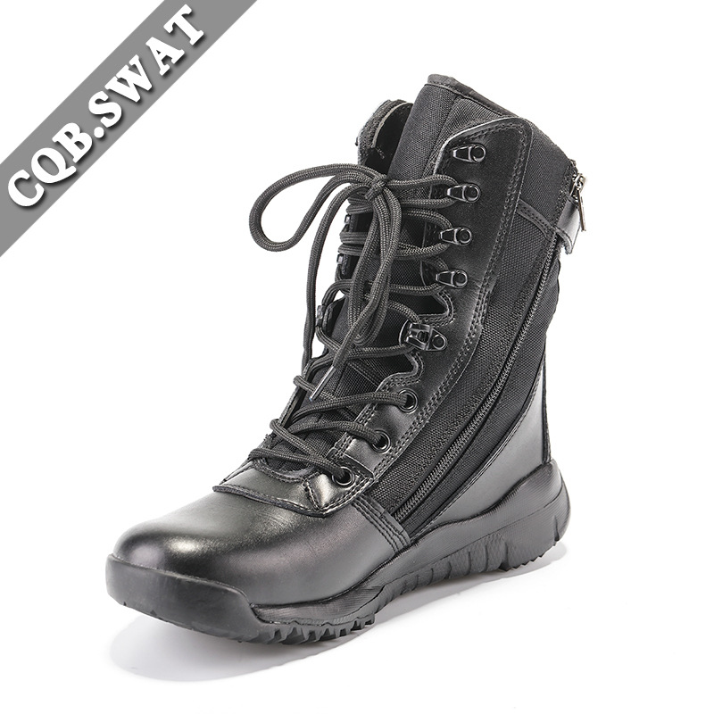Ultra-Light Combat Boots CQB.SWAT Adelman Lightweight Combat Boots Shock Absorption Hight-top Outdoor Tactical Boots Combat Boot