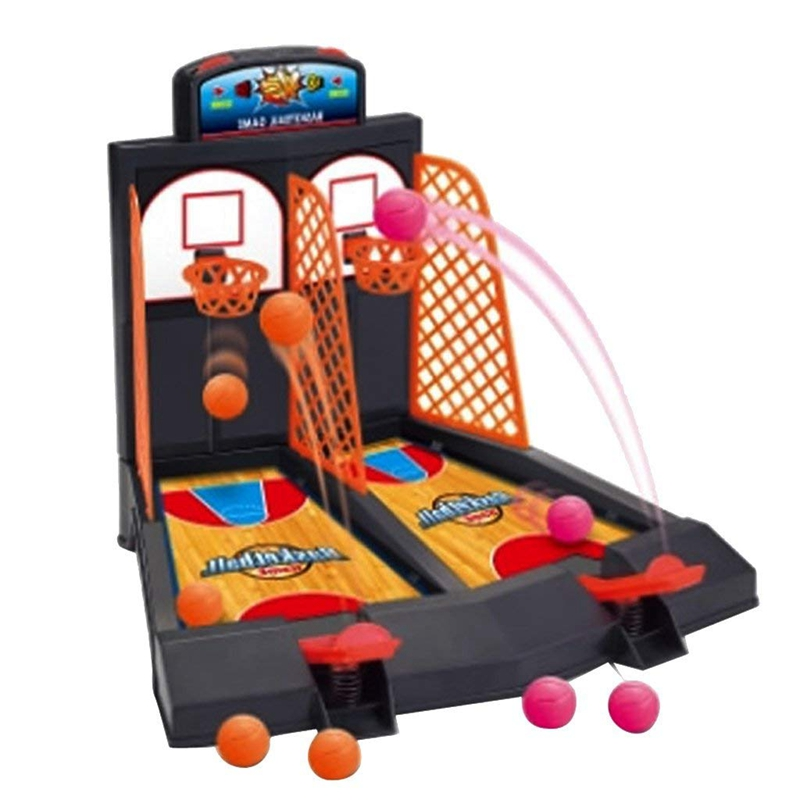 Family Fun Toys Mini Basketball Shoot Finger Games For Children