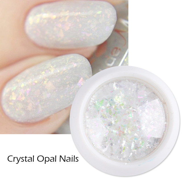 Crystal Fire Opal Flakes Nail Sequins Purple Holographic Glitter DIY Chrome Powder for Spring Nails Manicure Paillettes GL1857 2