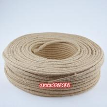 2 m, 3 m, 5 m, 10m 2x0,75mm Cable de cuerda de cáñamo Vintage Lámpara antigua tela trenzada Cable eléctrico de estilo Industrial Retro