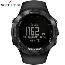 NORTH EDGE Mens sport Digital watch Hours Running Swimming sports watches Altimeter Barometer Compass Waterproof 50 Weather men