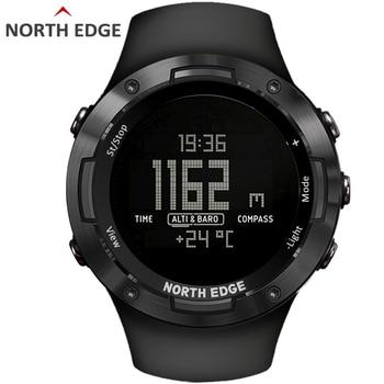 цена на NORTH EDGE Men's sport Digital watch Hours Running Swimming sports watches Altimeter Barometer Compass Waterproof 50 Weather men