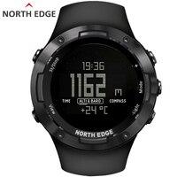 NORTH EDGE Men's sport Digital watch Hours Running Swimming sports watches Altimeter Barometer Compass Waterproof 50 Weather men