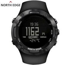 NORTH EDGEผู้ชายกีฬาดิจิตอลนาฬิกาชั่วโมงว่ายน้ำกีฬานาฬิกาเครื่องวัดระยะสูงเข็มทิศบารอมิเตอร์เข็มทิศกันน้ำ 50 สภาพอากาศผู้ชาย