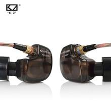 Fones de ouvido kz ate 1dd, fones de ouvido hi-fi esportivos de cobre para corrida com microfone e som