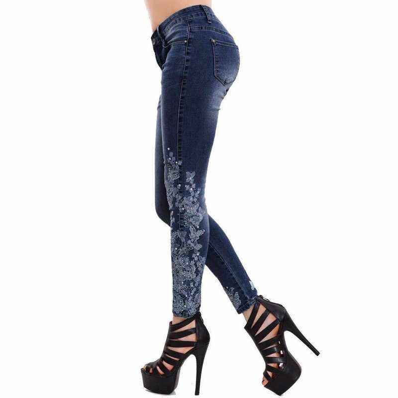 Hohe Taille Jeans Für Frauen Casual Stretch herbst Denim Bleistift Hosen Dame Dünne Elastische Dünne Jeans frühling Hosen S-5XL