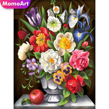 MomoArt 5D Full Drill Square Diamond Painting Flowers DIY Embroidery Cross Stitch Home Decoration Needlework Gift momoart 5d full drill square diamond painting flowers diy diamond embroidery daisy cross stitch home decoration gift