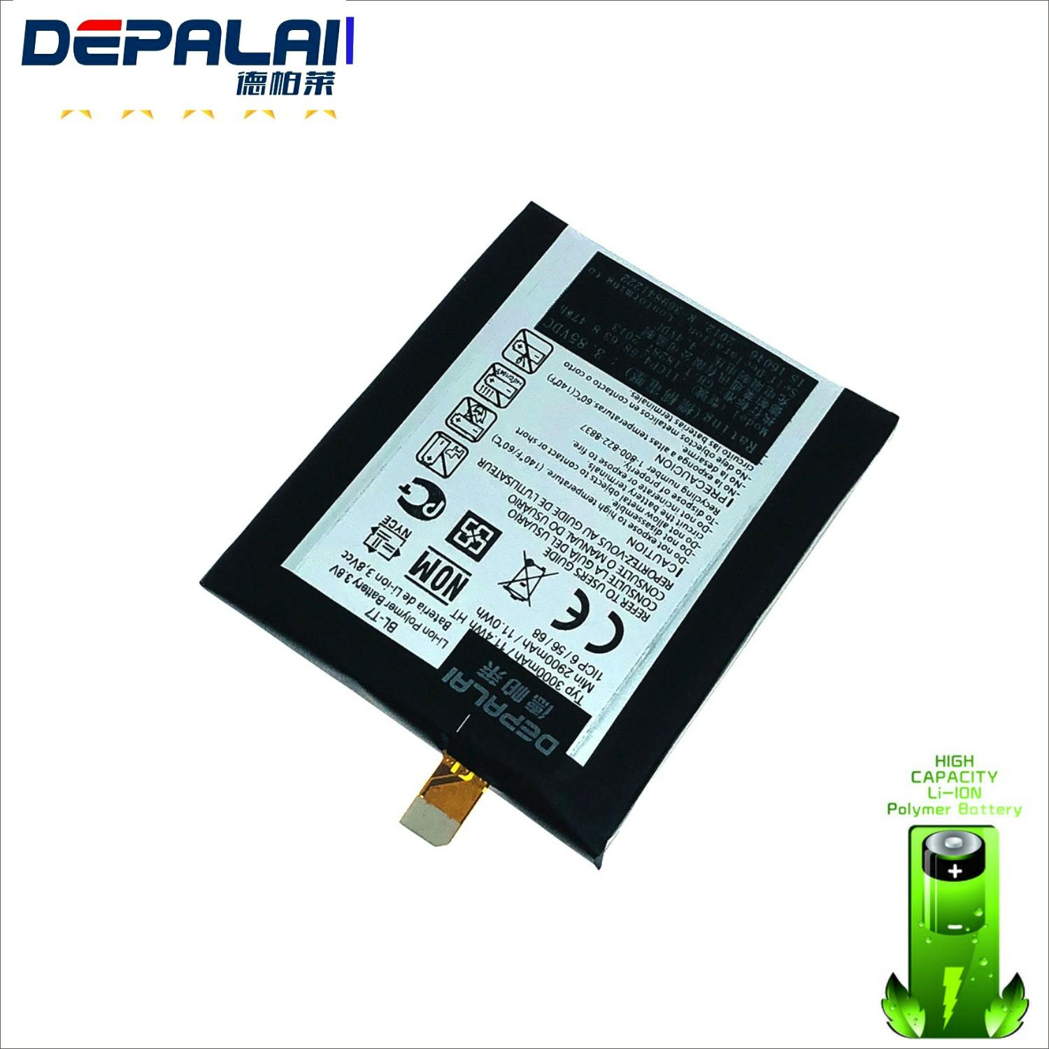 High Quality <font><b>BL</b></font>-<font><b>T7</b></font> Battery For <font><b>LG</b></font> Optimus G2 D802 D801 D800 LS980 VS980 Li-ion Battery 3000mAh Replacment Mobile Phone Bateria image