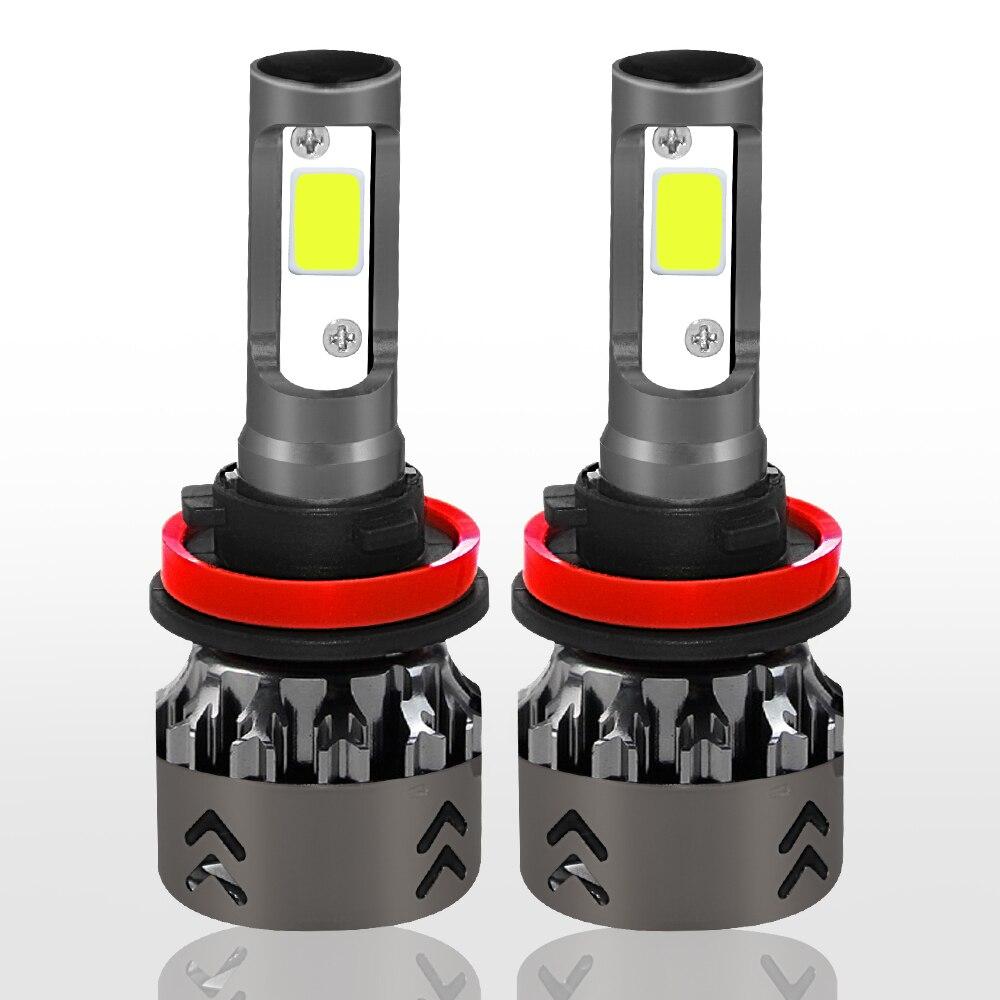 NEW Arrivals 2PCS Mini6 Car LED Lights Bulbs H1 H4 H7 H11 9005 9006 60W 6000K Auto Headlights 12V 24V  LED Automotivo Lamp