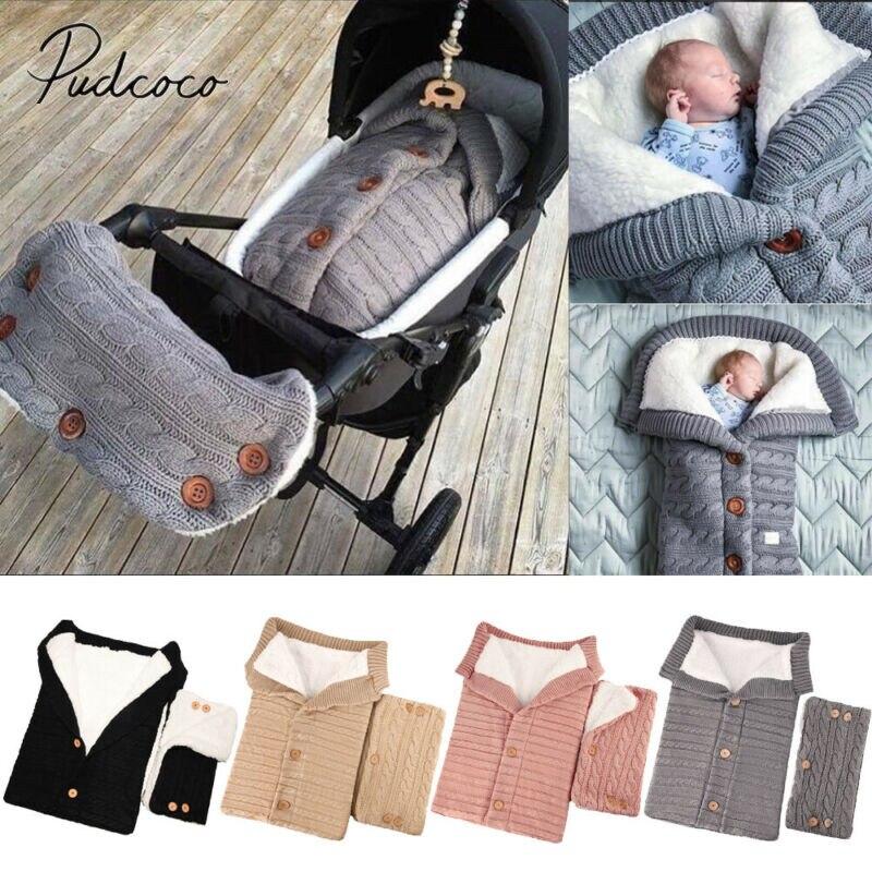 2019 accesorios de cochecito de bebé recién nacido Swaddle Wrap cálido invierno manta bolsa de dormir + bebé barandilla de