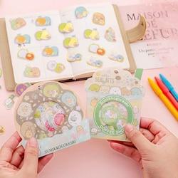 40 Pcs/pack Cartoon Anime Sumikko Gurashi Milk Tea Donut Stickers DIY Sticker Label PVC Phone Decor Sticker Toys for Kids Gift