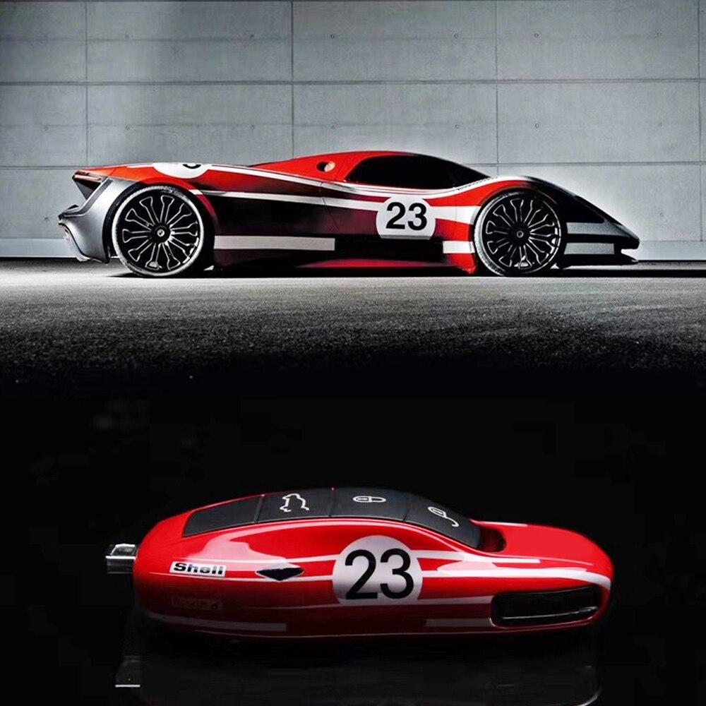 Image 5 - Чехол для ключей Porsche Panamera Cayenne 971 911 9YA Macan Boxster, чехол для ключей автомобиля, чехол для брелка с дистанционным управлением, глянцевый ключ No.23, красный гоночный стильФутляр для автомобильного ключа    АлиЭкспресс
