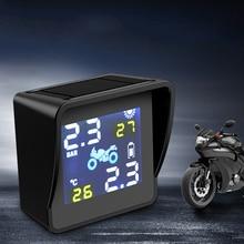Solar Motor Tire Pressure Monitor Waterproof External Motorcycle General Inspection Wireless