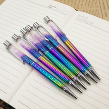 Crystal Pen Diamond Ballpoint Pens Stationery Oily lovely Multi-color Metal FKU66