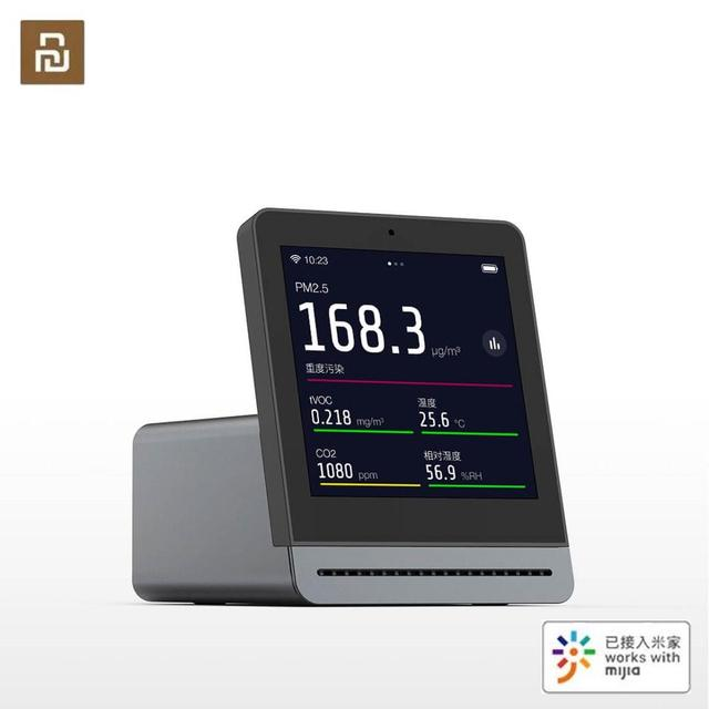 كاشف هواء على شكل عشب شفاف من YouPin بشاشة 3.1 بوصة تعمل باللمس على شكل الشبكية مع خاصية IPS للتشغيل باللمس في الأماكن المغلقة وفي الهواء الطلق