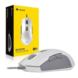 Проводная игровая мышь CORSAIR M55 RGB Pro, многофункциональная, с регулируемым датчиком 12400 DPI, 8 программируемых кнопок, черный