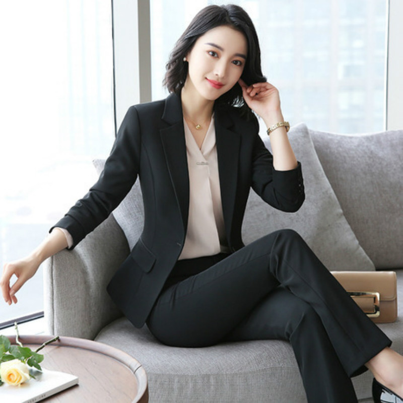 Women's Suits Spring And Autumn New Fashion Temperament High-end Professional Wear Wild Trousers Women's Two-piece Suit