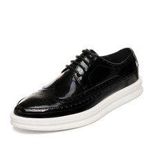 Jinandyu/Новинка 2020 года; Мужская обувь из лакированной кожи;
