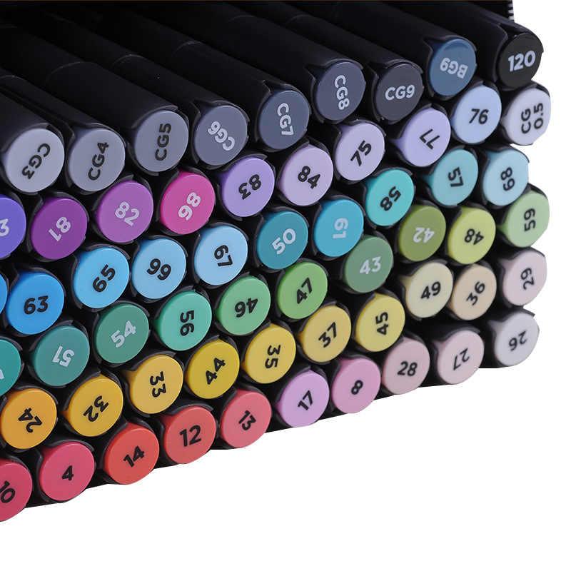Marqueur de croquis professionnel STA Art marqueur 30/40/60/80/128 couleurs à base d'alcool pour dessin Art fournisseur marqueur de stylo double conseils