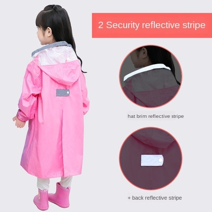 Pink Waterproof Rain Poncho Outdoor Raincoat Kids Space for Schoolbag Children Boy's Yellow Rain Coat Cover Hiking Impermeable 4