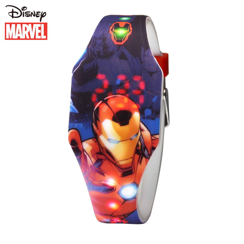 Дисней дети% 27 часы Марвел красавчик Железный человек веселье светодиод круто электронные часы